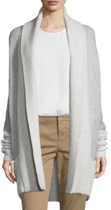 Vince Colorblock Ribbed Cashmere-Blend Cardigan $425 thestylecure.com
