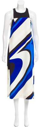 Milly Abstract Printed Midi Dress w/ Tags