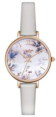 Lola Rose Women's Quartz Watch with Multicolour Dial Analogue Display and Grey Leather Strap LR2042