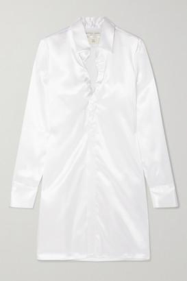Bottega Veneta Ruched Satin Shirt - White
