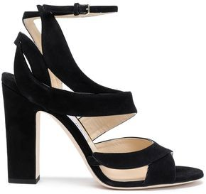 Jimmy Choo Falcon 100 Cutout Suede Sandals