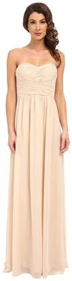 Donna Morgan Stephanie Strapless Chiffon Gown $240 thestylecure.com