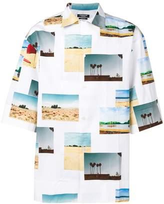 Calvin Klein postcard printed shirt
