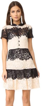 RED Valentino Striped Lace Mini Dress $1,495 thestylecure.com