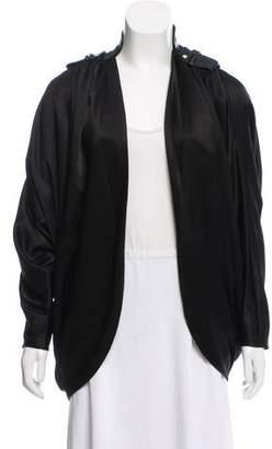 Alexander Wang Leather-Trimmed Satin Jacket