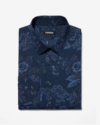 Express Extra Slim Floral Dress Shirt