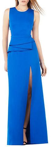 BCBGMAXAZRIABcbgmaxazria Sleeveless Pleated Peplum Dress