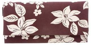 Miu Miu Printed Leather-Trimmed Clutch