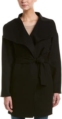 Trina Turk Ines Wrap Wool-Blend Coat