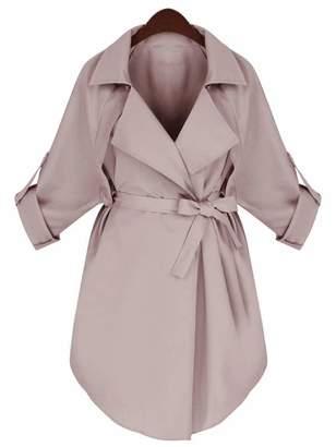 Comvison Autumn Winter Women Long Trench Coat Woman Long Sleeve Jacket Outerwear Xs