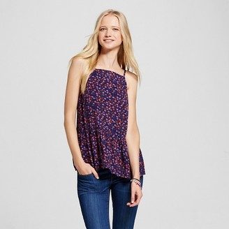 Mossimo Supply Co. Women's Drapey Woven Tank - Mossimo Supply Co. Blue Print $16.99 thestylecure.com