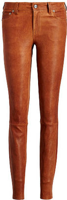 Polo Ralph Lauren Stretch Leather Skinny Pant $998 thestylecure.com