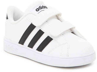 adidas Baseline Infant & Toddler Sneaker -White/Black - Boy's