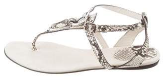 Gucci Snakeskin Thong Sandals