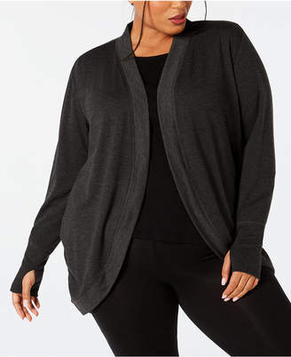 Ideology Plus Size Open-Front Cardigan