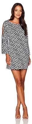 Tiana B Women's Petite Bell Sleeve Print Dress