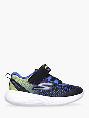 Skechers Junior Go Run 600 Farrox Trainers, Blue/Lime
