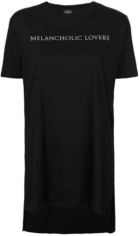 Marcelo Burlon County of Milan long printed slogan T-shirt