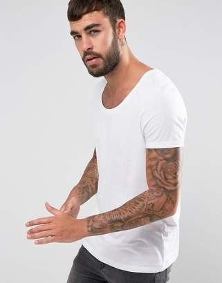 Asos T-Shirt With Deep Scoop Neck