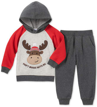 Kids Headquarters Baby Boys 2-Pc. Moose Graphic Hoodie & Jogger Pants Set