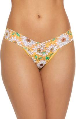 Hanky Panky Happy Classic Daisies Low Rise Lace Thong