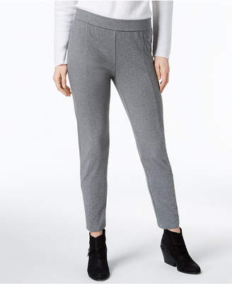 Eileen Fisher Organic Cotton Ankle-Zip Pull-On Skinny Pants