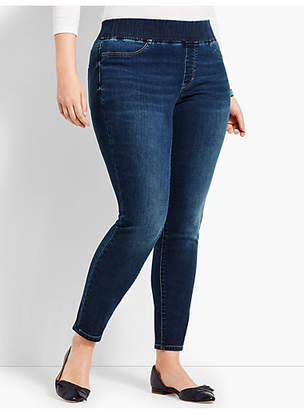 Talbots Plus Size Exclusive Comfort Stretch Denim Pull-On Jeggings - Saratoga