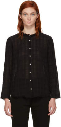 Raquel Allegra Black Plaid Gauze Shirt