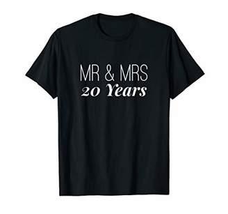 20th Wedding Anniversary Gift Tshirt Mr Mrs Couple Me Women