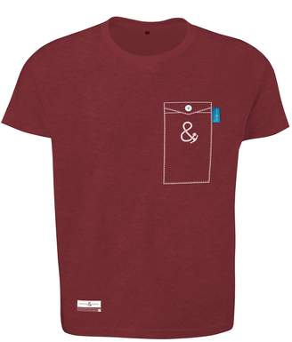 ANCHOR & CREW - Fire Brick Red Anchormark Print Organic Cotton T-Shirt Mens
