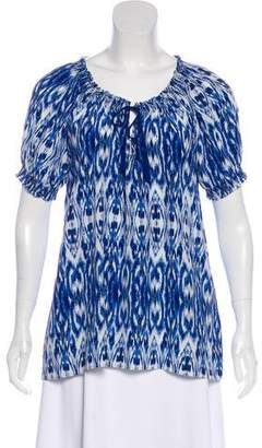 Joie Silk Short Sleeve Blouse
