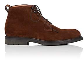 Heschung Men's Pin Suede Boots-Rust
