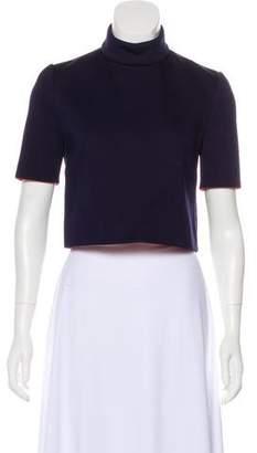 DELPOZO Short Sleeve Crop Top