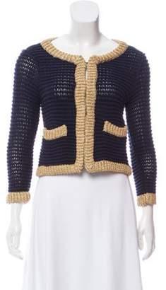3.1 Phillip Lim Long Sleeve Knit Cardigan Navy Long Sleeve Knit Cardigan