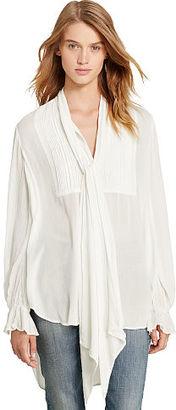 Ralph Lauren Denim & Supply Crepe Tuxedo Shirt $125 thestylecure.com