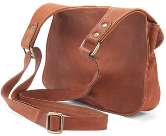 Made In Italy Saddle Woven Leather Crossbody