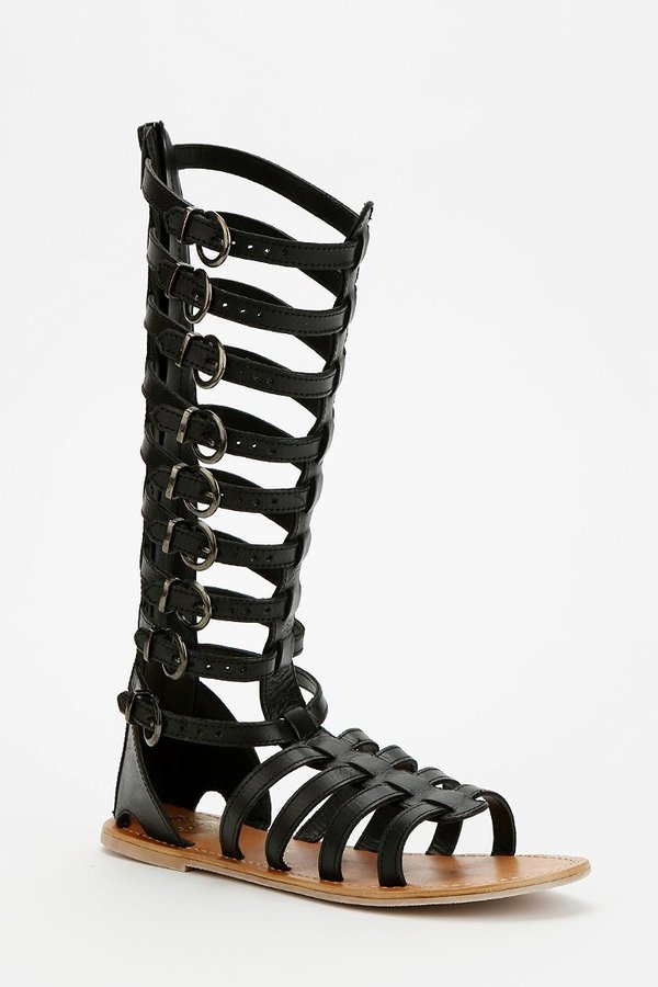 Helena Ecote Tall Buckled Caged Sandal