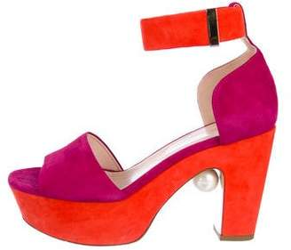 Nicholas Kirkwood Suede Platform Sandals