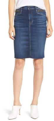 Hudson Helena Zip Pocket Denim Pencil Skirt