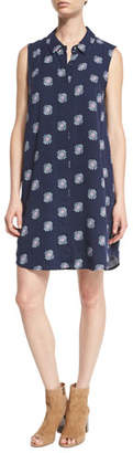 Splendid Conversational Larkspur Sleeveless Shirtdress, Navy $188 thestylecure.com