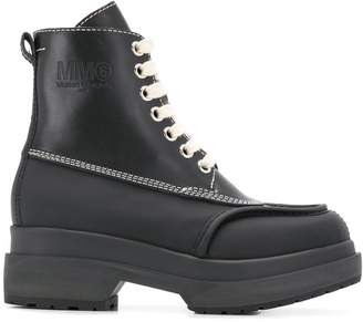 MM6 MAISON MARGIELA chunky lace-up boots