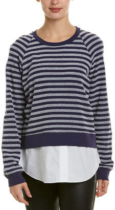 Derek Lam 10 Crosby Faux Undershirt Sweatshirt