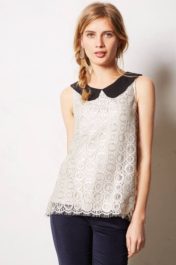 Anthropologie Moonlight Lace Top