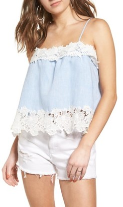 Women's Blanknyc Perfect Strangers Lace Trim Camisole $88 thestylecure.com