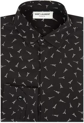 Saint Laurent Silk Eiffel Tower Shirt