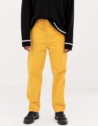 Collusion COLLUSION straight fit cord pants in yellow