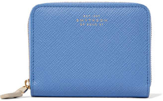 Panama Textured-leather Wallet - Blue