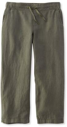 L.L. Bean L.L.Bean Premium Washable Linen Cropped Pants