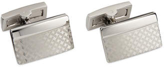 Ryan Seacrest Distinction Silver Basketweave Rectangle Cufflinks $45 thestylecure.com