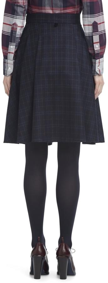 Brooks Brothers Plaid Circle Skirt